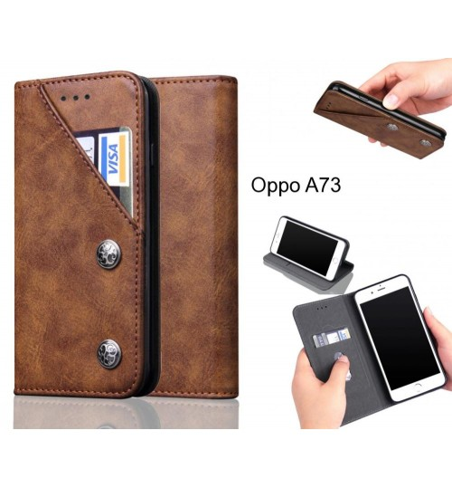 Oppo A73 Case vintage wallet leather case