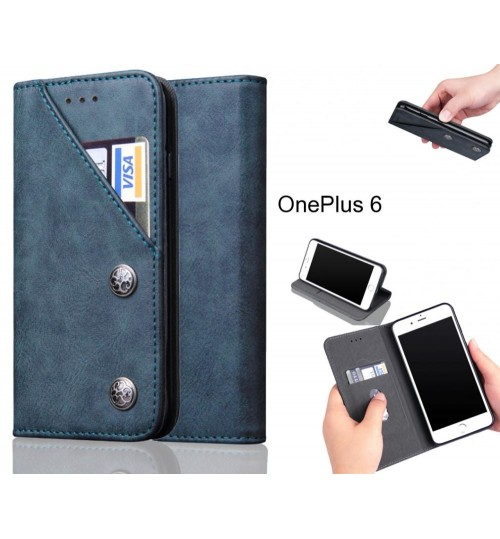 OnePlus 6 Case vintage wallet leather case
