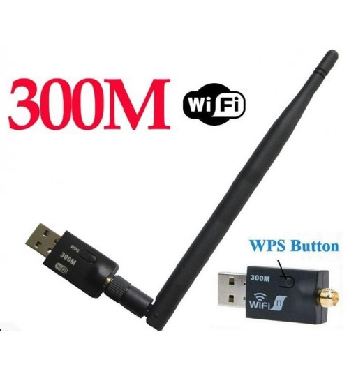 300M USB2.0 Wifi Wireless Network Adapter Dongle+Antenna 802.11n/g/b LAN Card