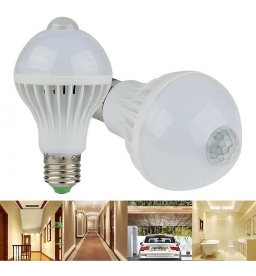 E27 LED Bulb motion sensor 7W
