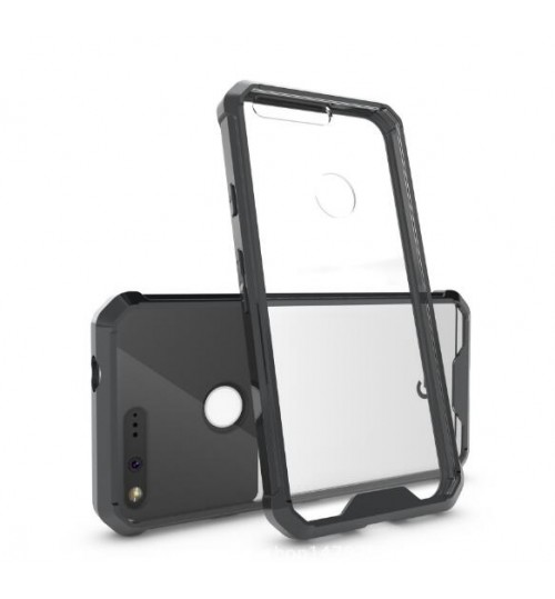 Google Pixel case bumper  clear gel back cover