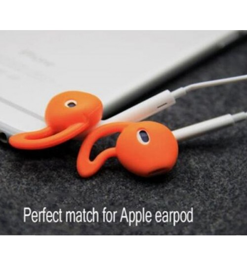 1 Pair Soft Clear Silicone Earplugs Earbuds Cover For Apple iPhone