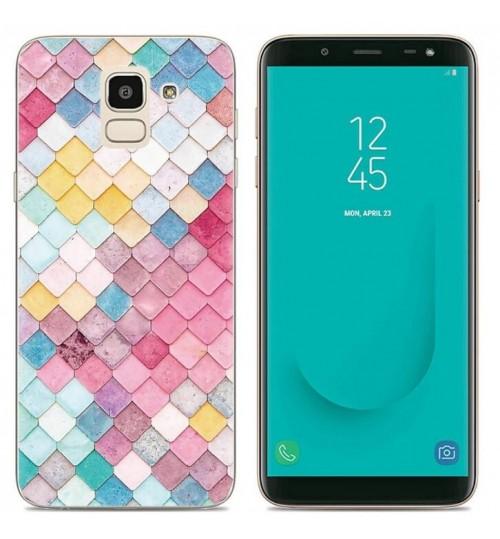 Galaxy J6 Case Printed Soft Gel TPU Case