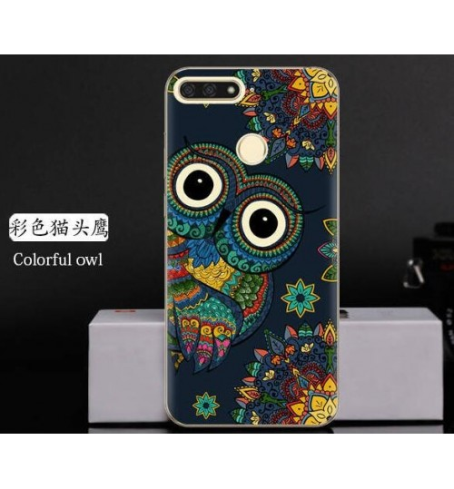 Huawei Y6 2018 Case Printed Soft Gel TPU Case