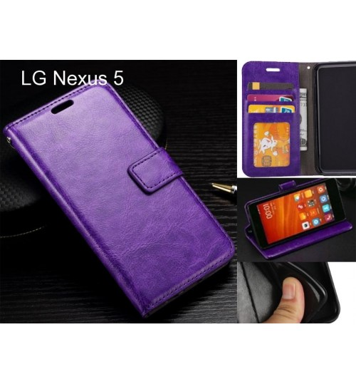 LG Nexus 5 case Fine leather wallet case