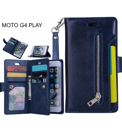 MOTO G4 PLAY Case Wallet Leather Case With Zip