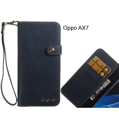 Oppo AX7 case Fine leather wallet case