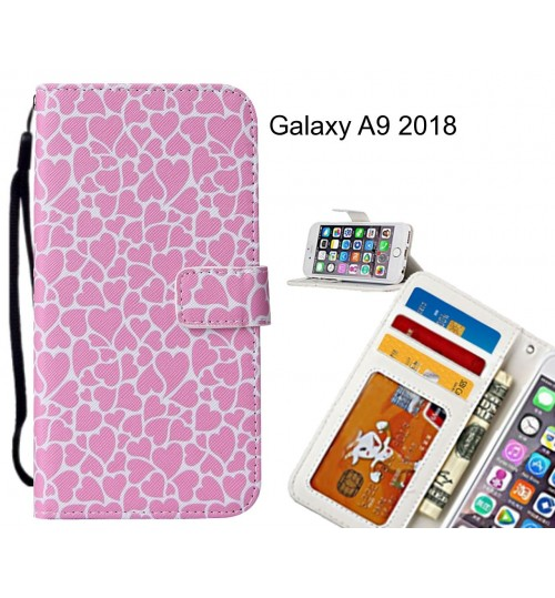 Galaxy A9 2018 case leather wallet case printed ID