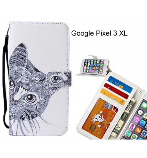 Google Pixel 3 XL case leather wallet case printed ID