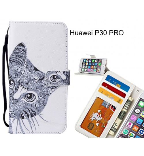 Huawei P30 PRO case leather wallet case printed ID