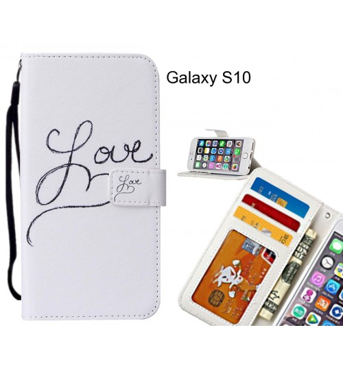 Galaxy S10 case leather wallet case printed ID