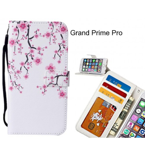 Grand Prime Pro case leather wallet case printed ID