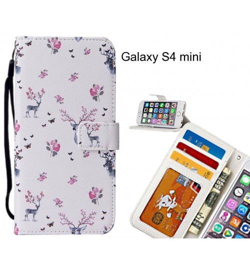 Galaxy S4 mini case leather wallet case printed ID