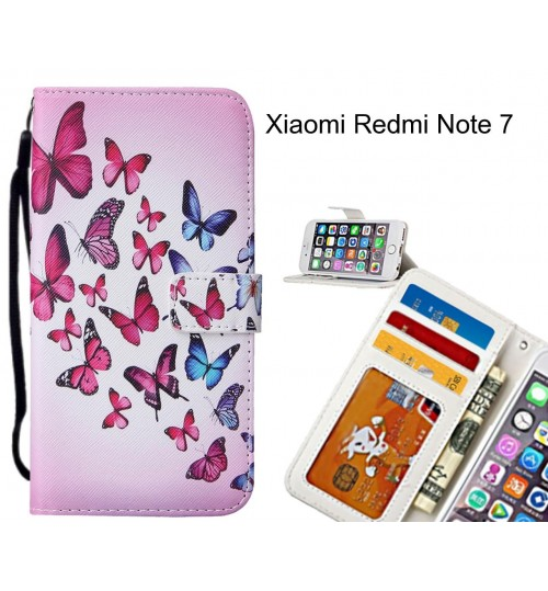 Xiaomi Redmi Note 7 case leather wallet case printed ID