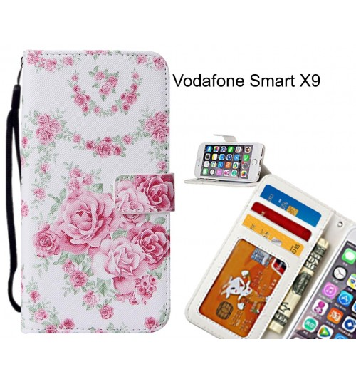 Vodafone Smart X9 case leather wallet case printed ID