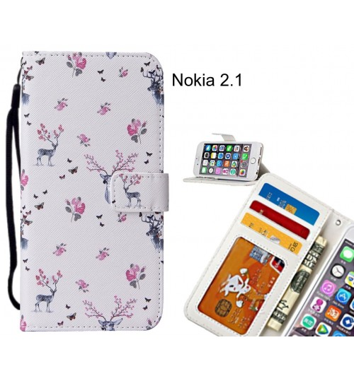 Nokia 2.1 case leather wallet case printed ID