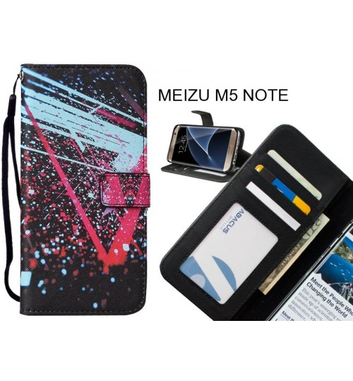 MEIZU M5 NOTE case leather wallet case printed ID