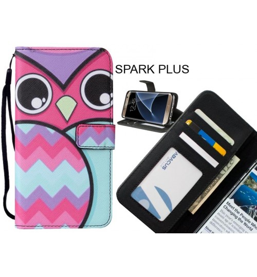 SPARK PLUS case leather wallet case printed ID
