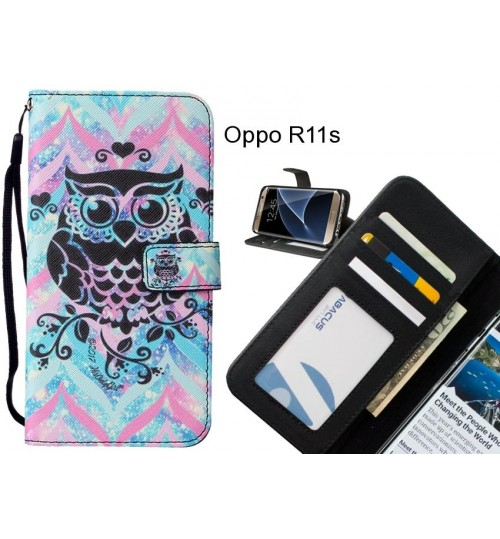 Oppo R11s case leather wallet case printed ID
