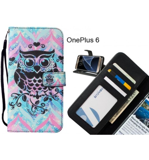 OnePlus 6 case leather wallet case printed ID