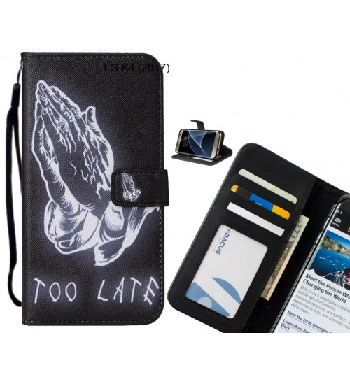 LG K4 (2017) case leather wallet case printed ID