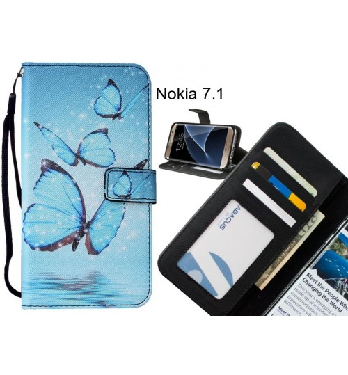 Nokia 7.1 case leather wallet case printed ID