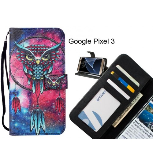 Google Pixel 3 case leather wallet case printed ID