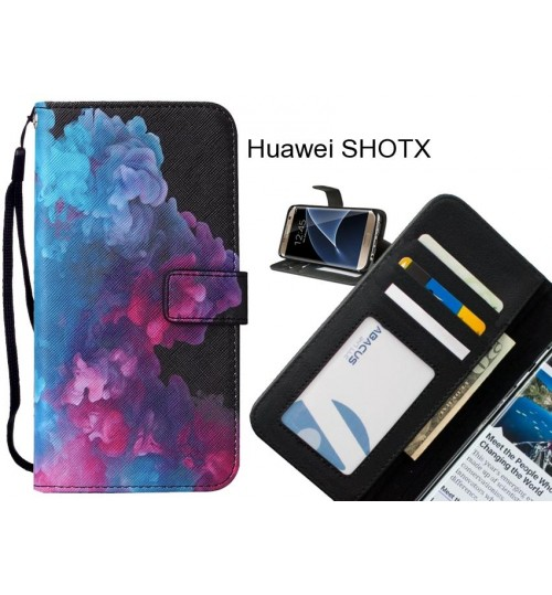 Huawei SHOTX case leather wallet case printed ID