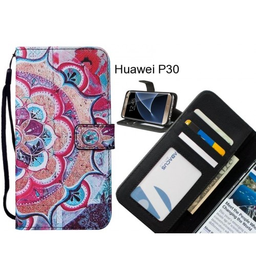 Huawei P30 case leather wallet case printed ID
