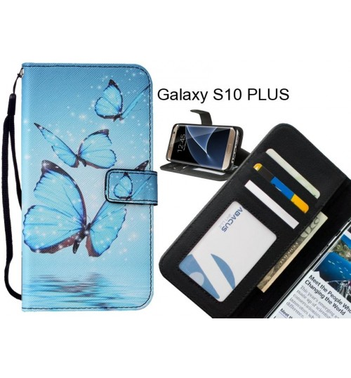 Galaxy S10 PLUS case leather wallet case printed ID