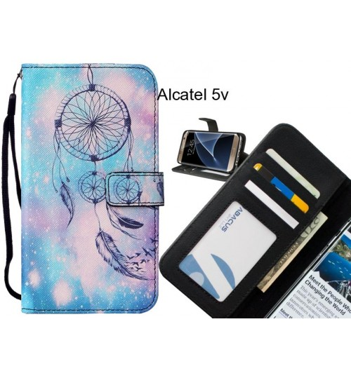 Alcatel 5v case leather wallet case printed ID