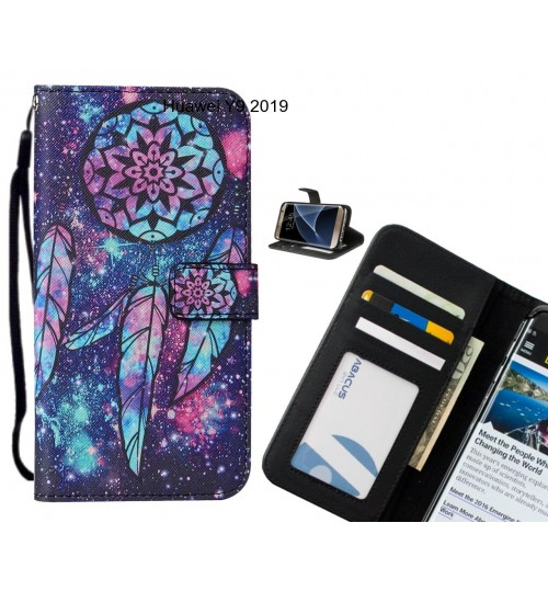 Huawei Y9 2019 case leather wallet case printed ID