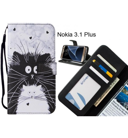 Nokia 3.1 Plus case leather wallet case printed ID