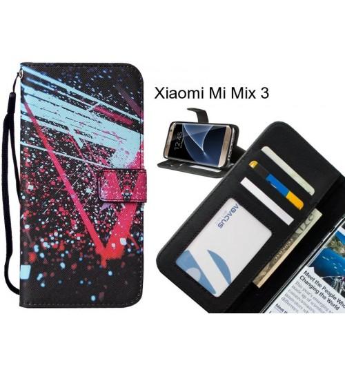 Xiaomi Mi Mix 3 case leather wallet case printed ID