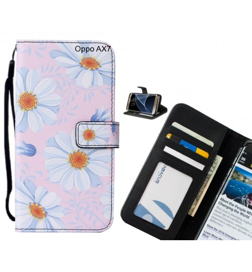 Oppo AX7 case leather wallet case printed ID