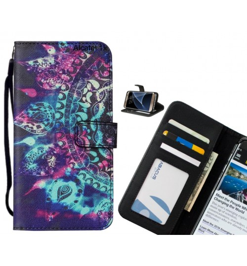 Alcatel 1x case leather wallet case printed ID