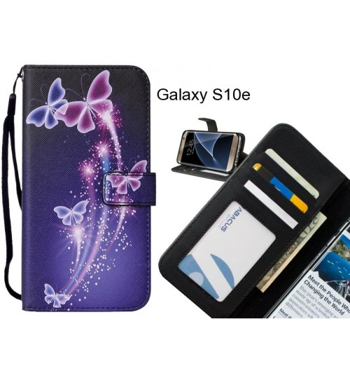 Galaxy S10e case leather wallet case printed ID