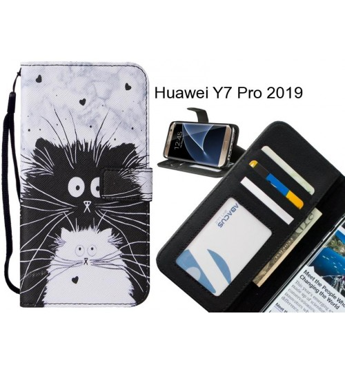 Huawei Y7 Pro 2019 case leather wallet case printed ID