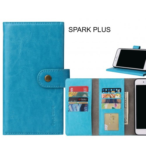 SPARK PLUS Case 9 card slots wallet leather case folding stand