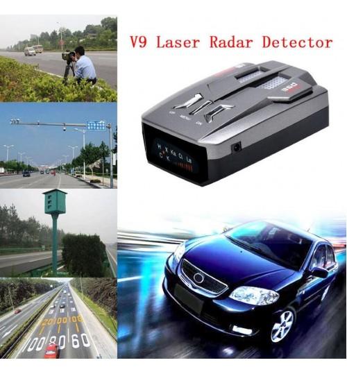 Car Trucker Speed V9 Laser Radar Detector Voice Alert Warning 360 Degree