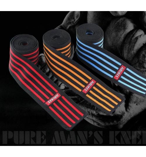 weightlifting knee wraps orange-line