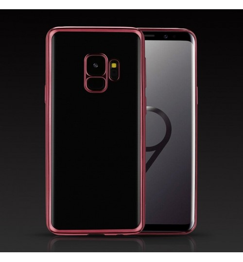 Galaxy S9 case plating bumper clear gel back cover case
