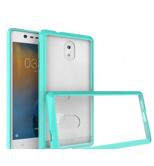 NOKIA 3 case bumper  clear gel back cover