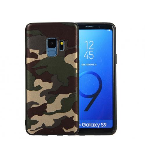 Galaxy S9 Case Camouflage Soft Gel TPU Case