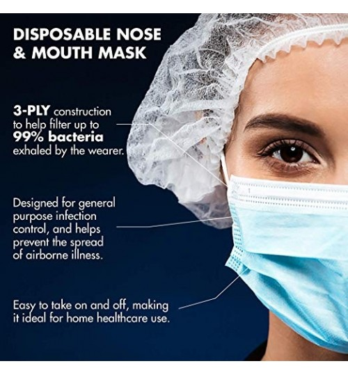 Anti-Dust Medical Face Mouth Mask 10 Pcs