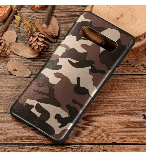 Galaxy S10 Case Camouflage Soft Gel TPU Case