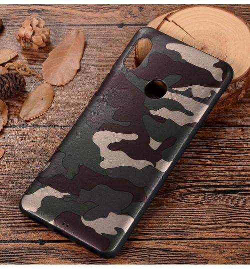 Xiaomi Redmi 6 Pro Case Camouflage Soft Gel TPU Case
