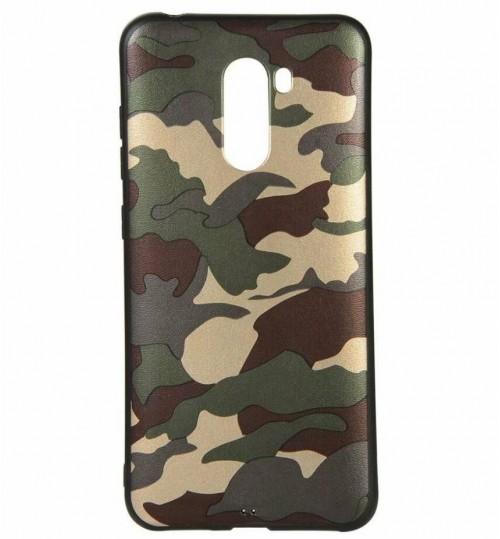 Xiaomi Pocophone F1 Case Camouflage Soft Gel TPU Case