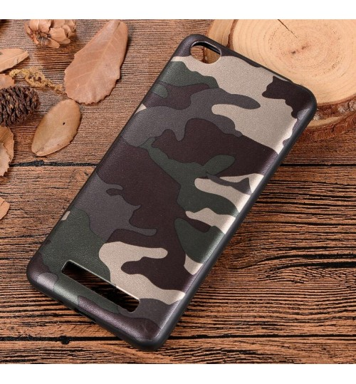 Xiaomi Redmi 4A Case Camouflage Soft Gel TPU Case