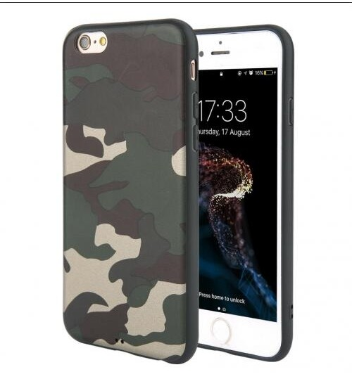 iPhone 5 / 5s / SE Case Camouflage Soft Gel TPU Case